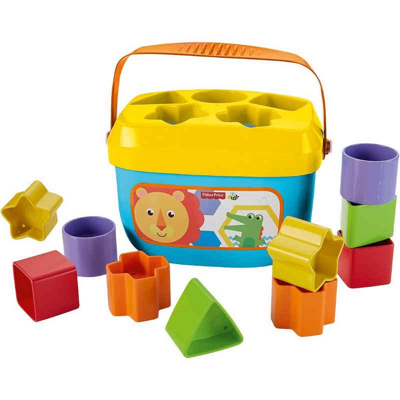 Mattel® Steckspielzeug »Fisher-Price Babys erste Bausteine, Motorikwürfel,«