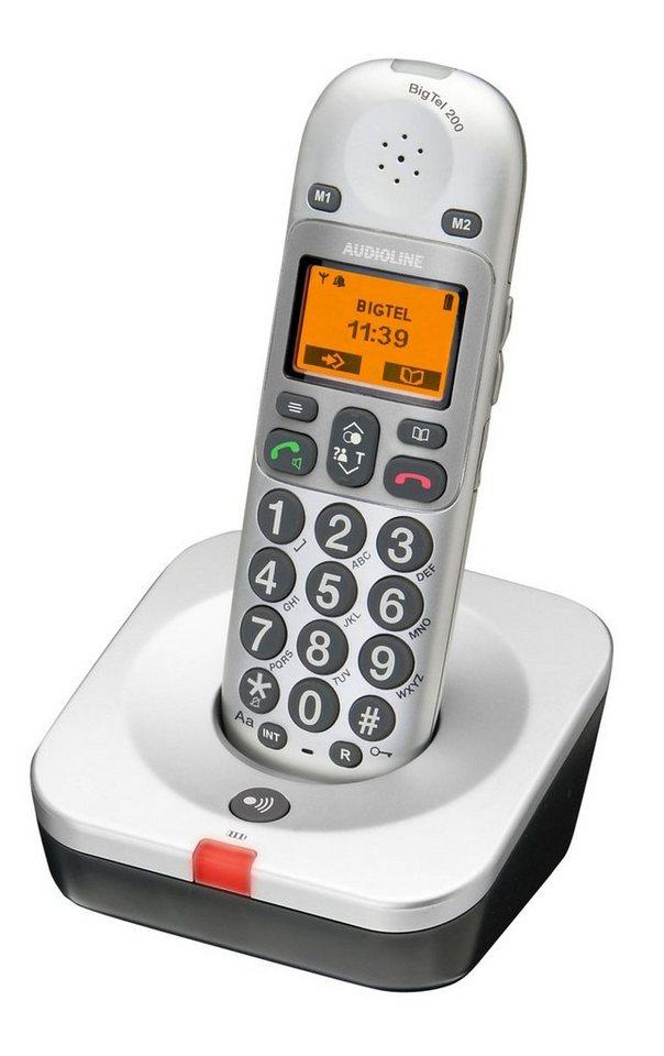 Audioline Telefon analog schnurlos »Big Tel 200« in Silber