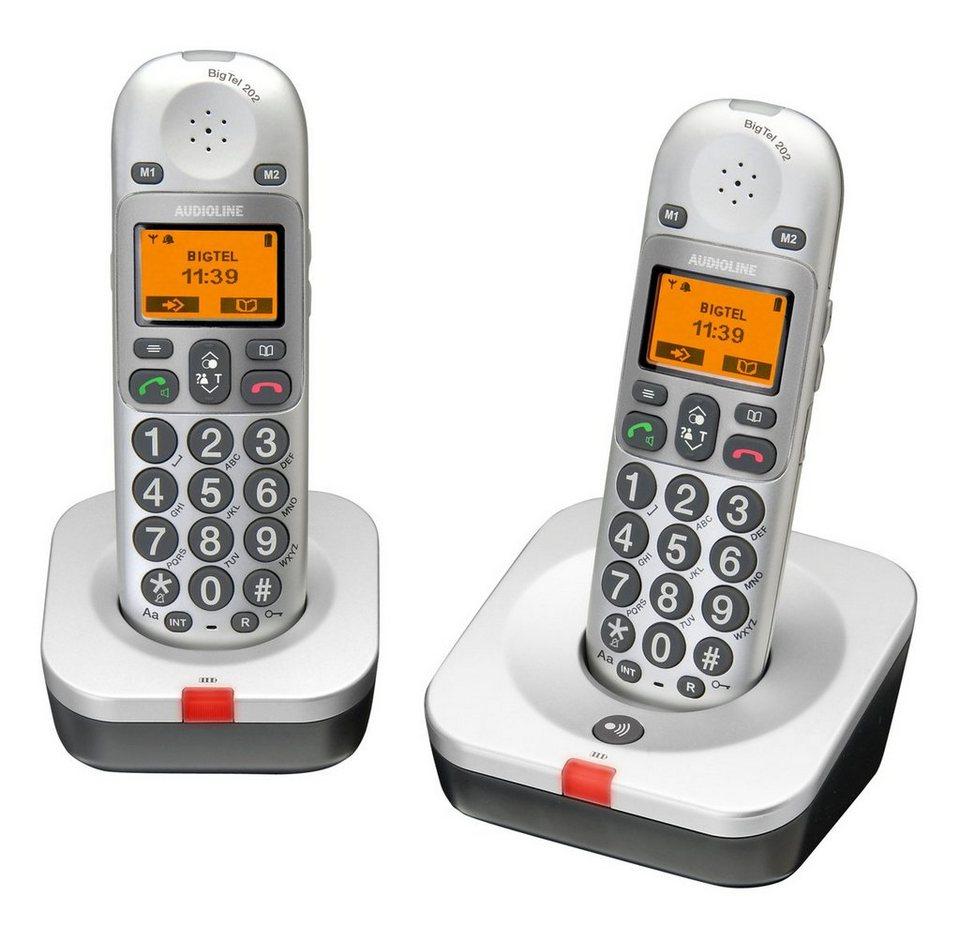 Audioline Telefon »Big Tel 202« in Grau