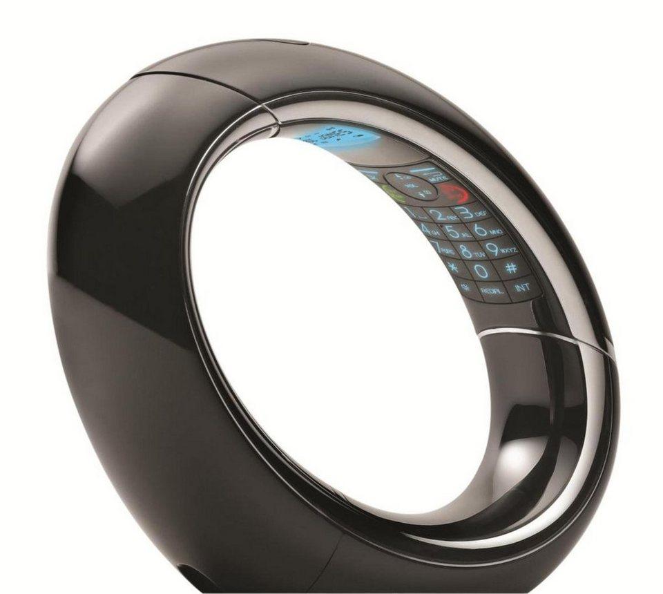 AEG Telefon analog schnurlos »Eclipse 10 black« in Schwarz