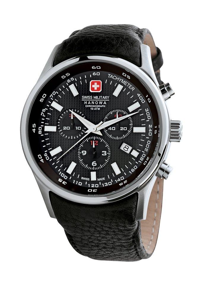 "Swiss Military Hanowa, Chronograph, ""NAVALUS CHRONO, 06-4156.04.007"" in schwarz"