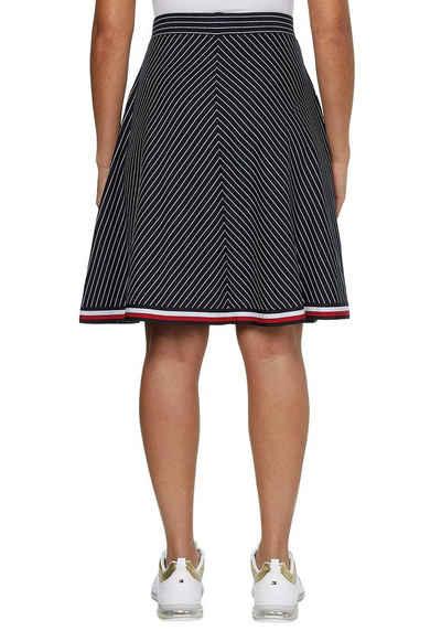 Tommy Hilfiger Jerseyrock »Global Stripe Short Skirt« im feinem, diagonalem Nadelstreifen