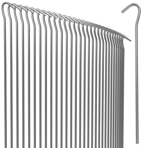 Gardebruk Zelthering, (50-St), Gardebruk 50x Heringe verzinkter Stahl 20x 2,5 cm Ø 3,5 mm Unkrautvlies Gartenvlies Zeltanker Erdanker Erdnägel Zaun
