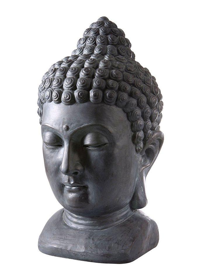 Buddhakopf in schwarz