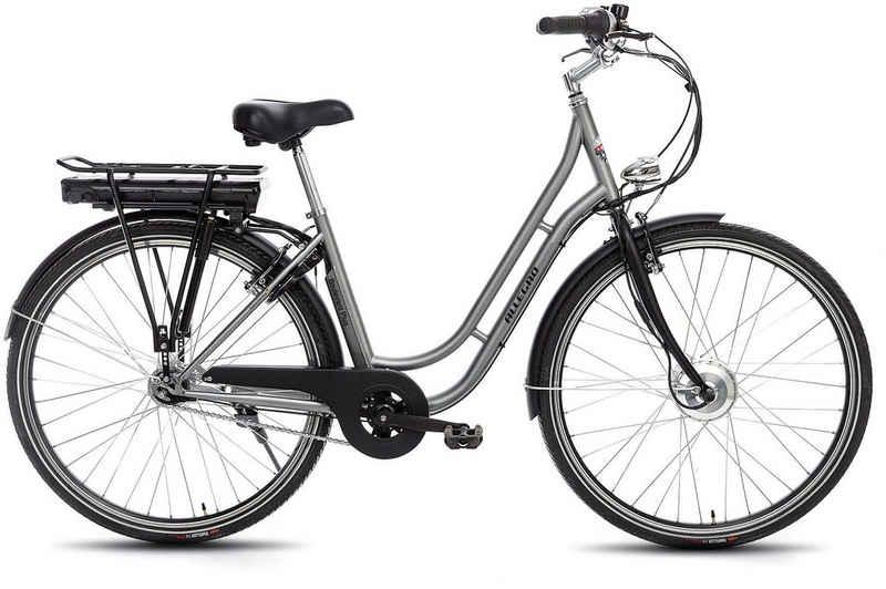 ALLEGRO E-Bike »Boulevard Plus 03 Silver«, 7 Gang Shimano Nexus Schaltwerk, Nabenschaltung, Frontmotor 250 W