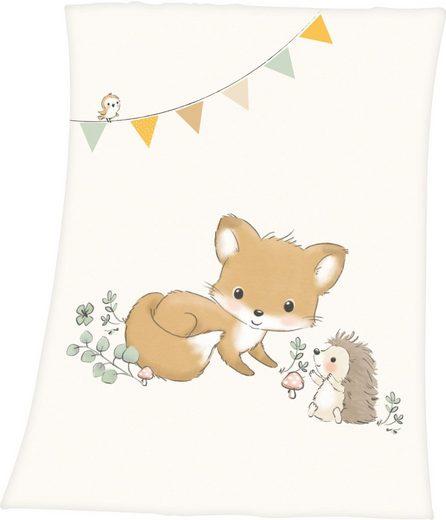Babydecke »Waldfreunde«, Baby Best, mit niedlichem Tiermotiv