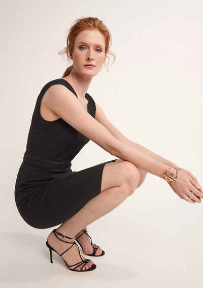 Comma Minikleid »Elegantes Kleid mit Webstruktur«