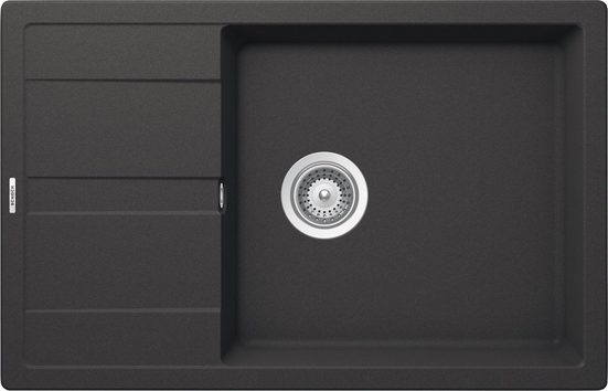 SCHOCK Granitspüle »Manhattan D-100LS«, kurze Tropffläche, 78 x 50 cm