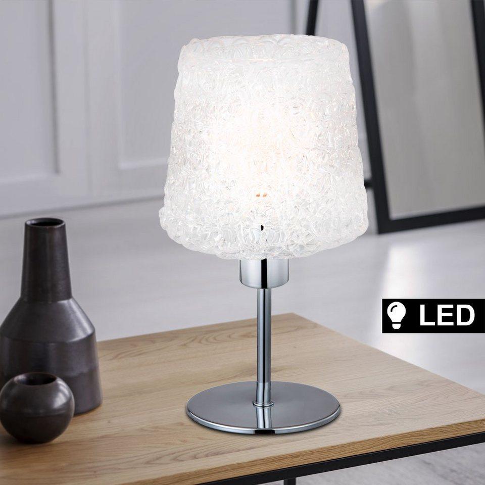 etc shop Tischleuchte, Tisch Lampe Ess Zimmer Geflecht Beistell Lese  Leuchte Chrom Strahler im Set inkl. LED Leuchtmittel online kaufen   OTTO
