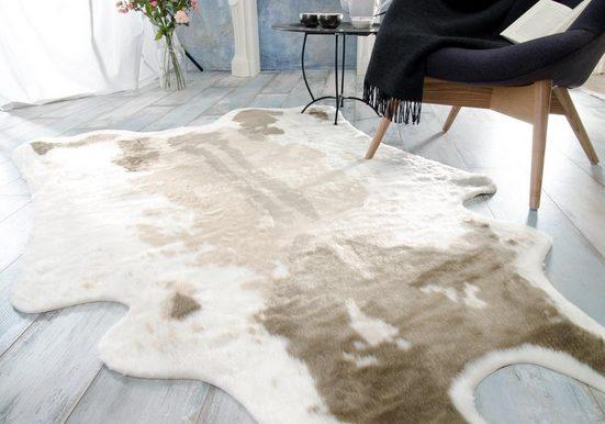 Fellteppich »Kuhfell Teppich, Fellteppich aus Kunstfell, elegant und flauschig«, Wohnen und Accessoires GmbH & Co. KG