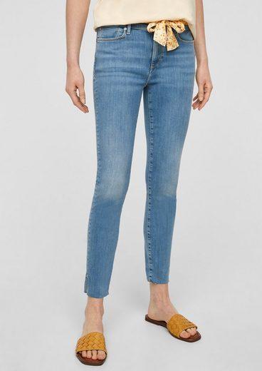 s.Oliver 7/8-Jeans »Skinny Fit: Jeans mit Stoffgürtel«