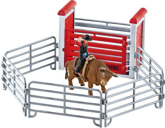 Schleich® Spielfigur »Schleich 41419 Bull riding mit Cowboy«