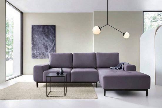 mokebo Ecksofa »Die Leichtfüßige«, aus Webstoff, auch als Schlafcouch, Eckcouch mit Schlaffunktion oder 3-Sitzer Sofa