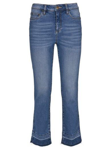 heine CASUAL Jeans mit Used-Effekt