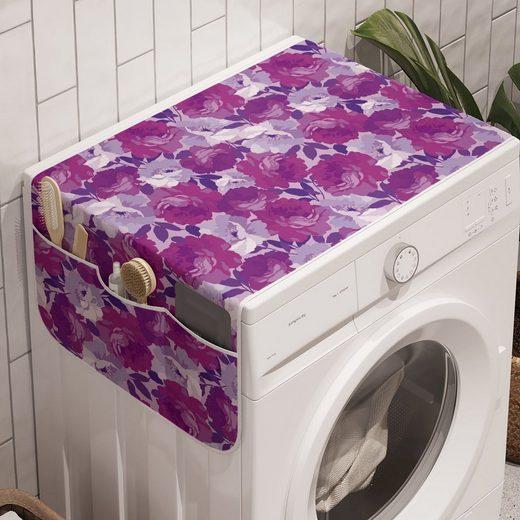 Abakuhaus Badorganizer »Anti-Rutsch-Stoffabdeckung für Waschmaschine und Trockner«, Blumen Romantische Rosen Wiederholung