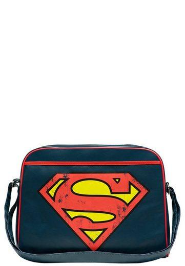 LOGOSHIRT Schultertasche mit coolem Superman-Logo »Superman - Logo«
