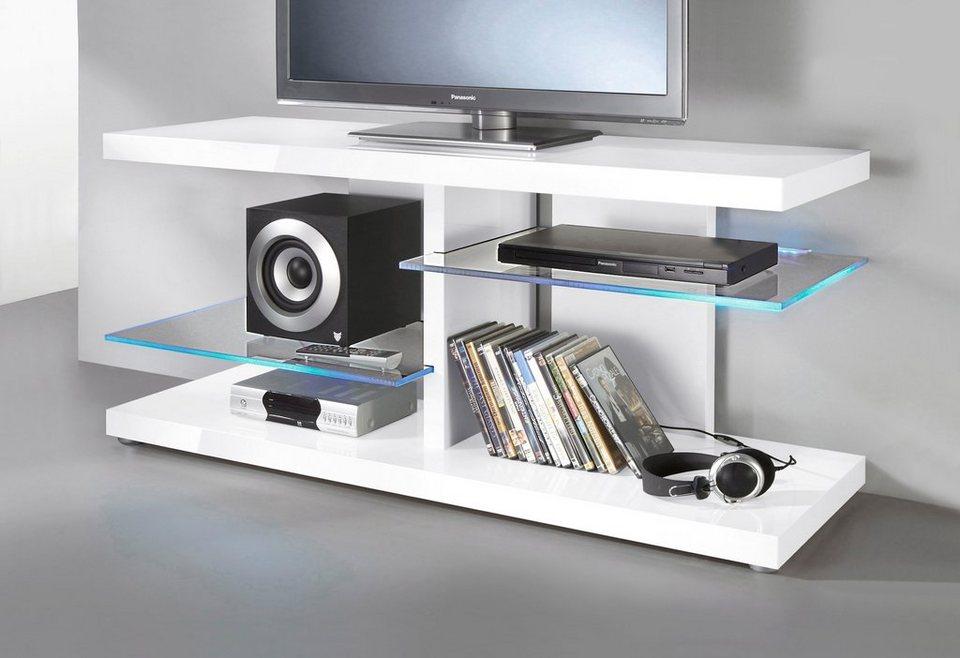 TV-Lowboard, HMW Möbel, Breite 120 cm in weiß