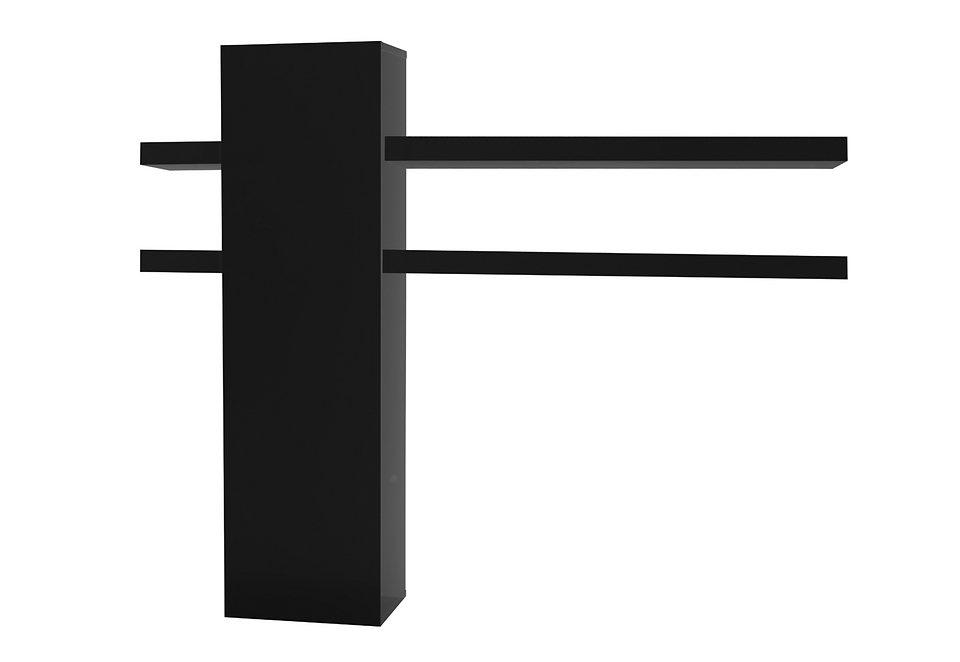 Wandelement mit Regal in 2 Farben in schwarz