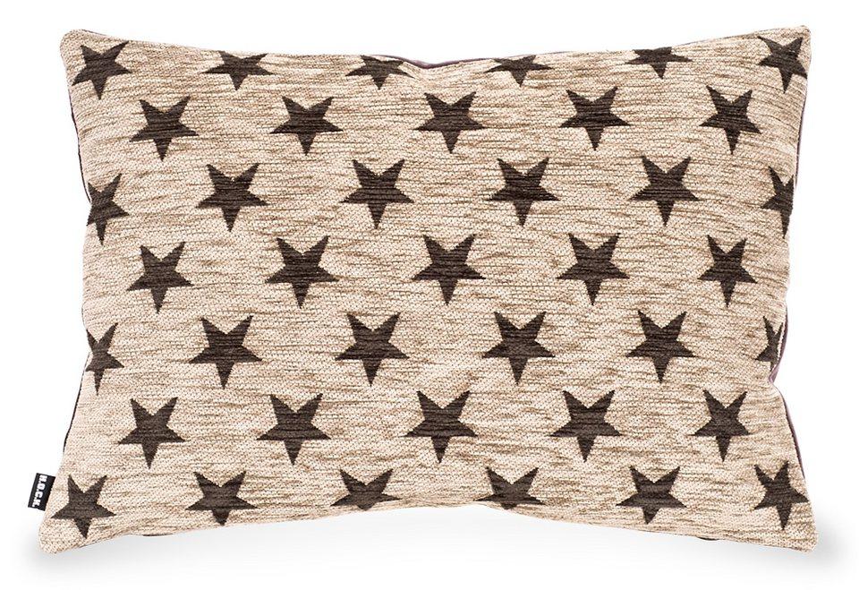 Kissen, Hock, »Sterne«, 65/45 cm in braun