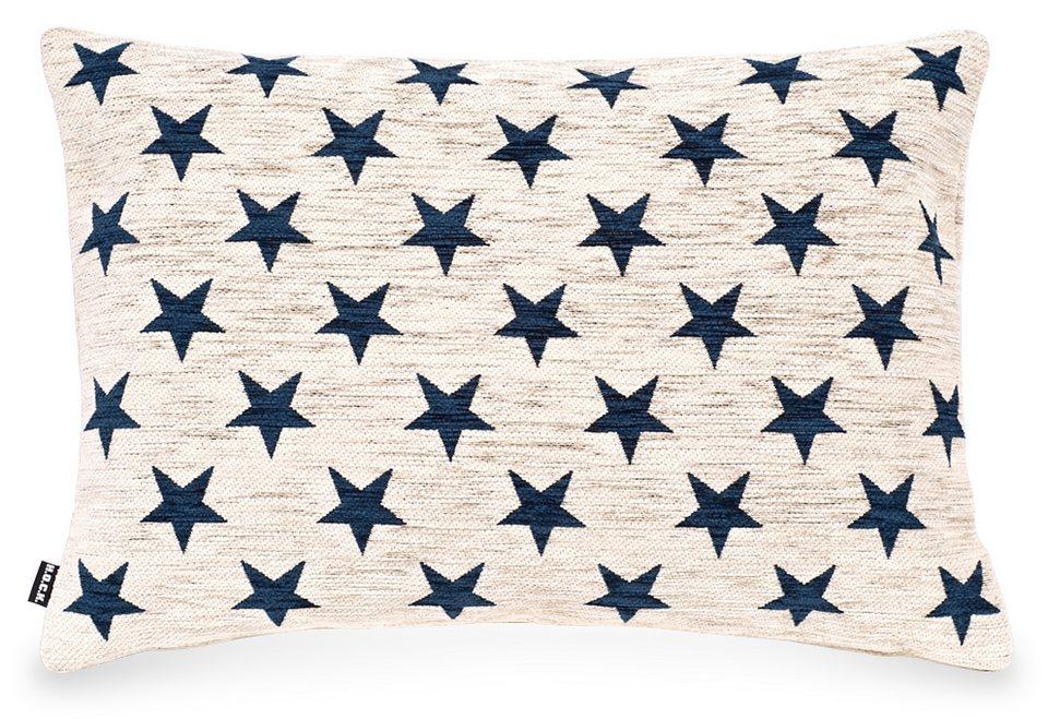 Kissen, Hock, »Sterne«, 65/45 cm in blau