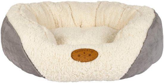 HEIM Hundebett »Banbury Gr. M«, BxL: 75x60 cm, wollweiß/grau