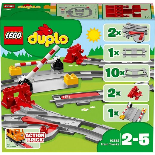 LEGO® Spielbausteine »LEGO® DUPLO® 10882 Eisenbahn Schienen«