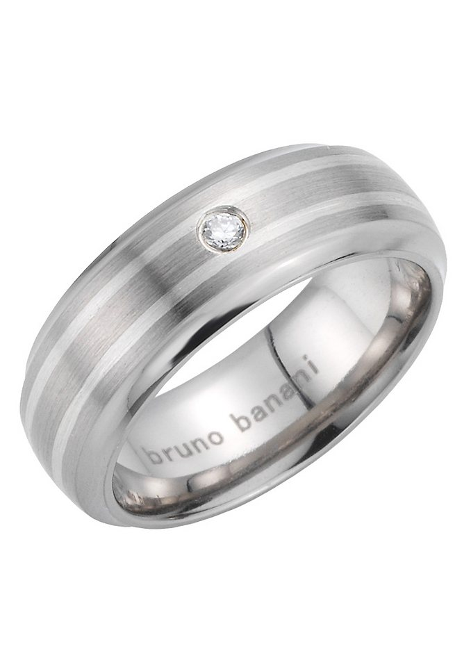 Partnerschmuck: Partnerring, Bruno Banani, »42/83192-0, 44/83193-0« in Mit Zirkonia synth.