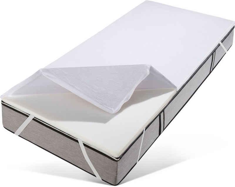 Topper »Rylee«, Traumecht, 3,5 cm hoch, Raumgewicht: 50, Viscoschaum, Besonders kuscheliger Bezug und eine Druckentlastung wie beim Schlafen auf Wolken