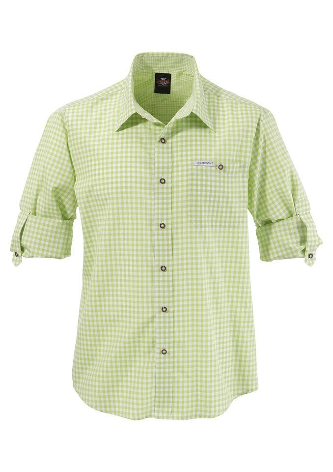 Trachtenhemd, Stockerpoint in apfel