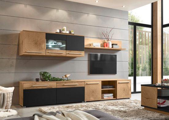 Places of Style Wohnwand »Locarno«, (Set, 4-St), im trendigen Design