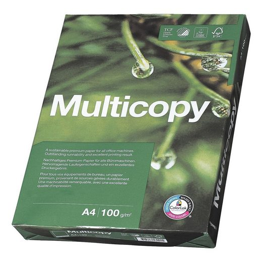 MULTICOPY Druckerpapier »MultiCopy«, Format DIN A4, 100 g/m²