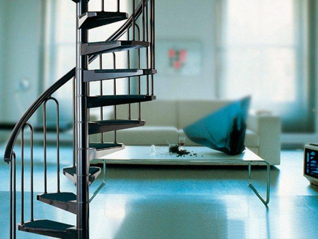 STARWOOD Spindeltreppe »AF26«, B: 130 cm, 12 Stufen, schwarz | Baumarkt > Leitern und Treppen | Starwood