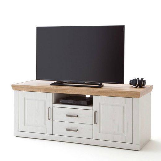 Lomadox Lowboard »BRASILIA-05«, TV- Fernsehschrank in Pinie Aurelio & Grandson Oak. Nb., mit Kabeldurchlass - B/H/T: 158/63/52cm