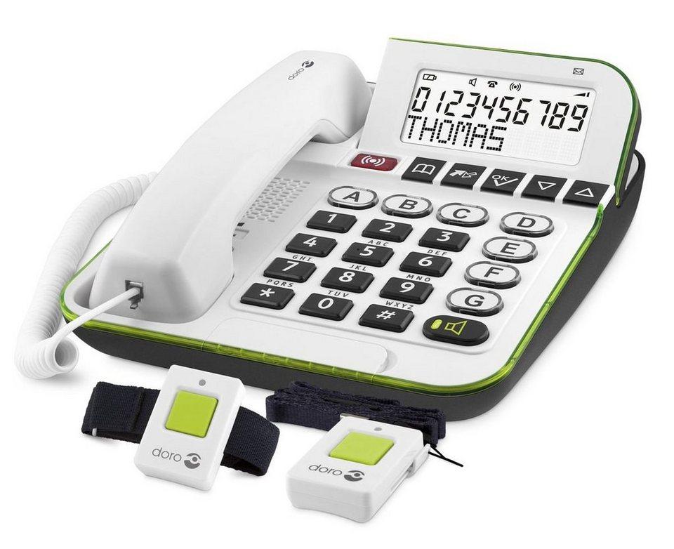 Doro Telefon analog schnurgebunden »Secure 350« in Weiß