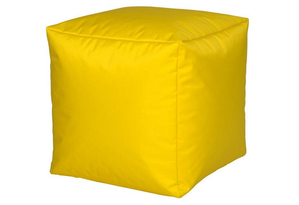 Sitzwürfel, Home affaire in gelb