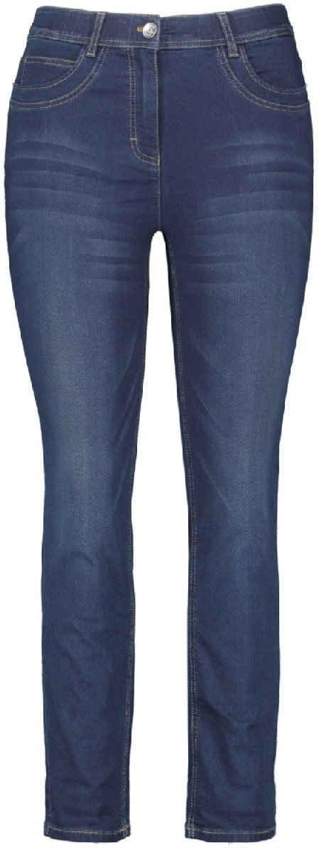 Samoon Slim-fit-Jeans Mid Waist