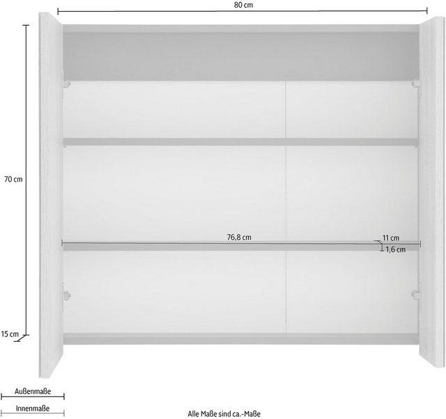 Spiegel - Home affaire Spiegelschrank »Wisla« Breite 80 cm  - Onlineshop OTTO