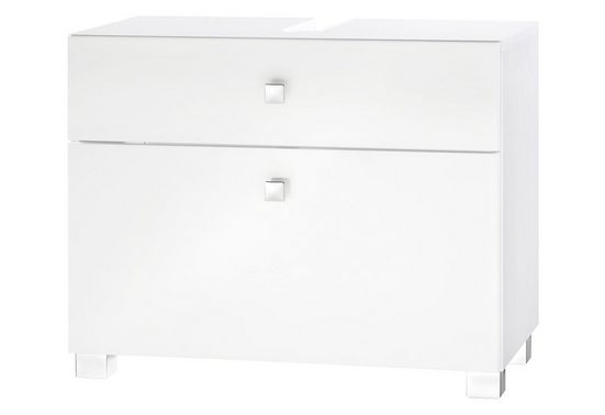 Schildmeyer Waschbeckenunterschrank »Bozen« Breite 65 cm, mit 2 Schubladen & Metallgriffen