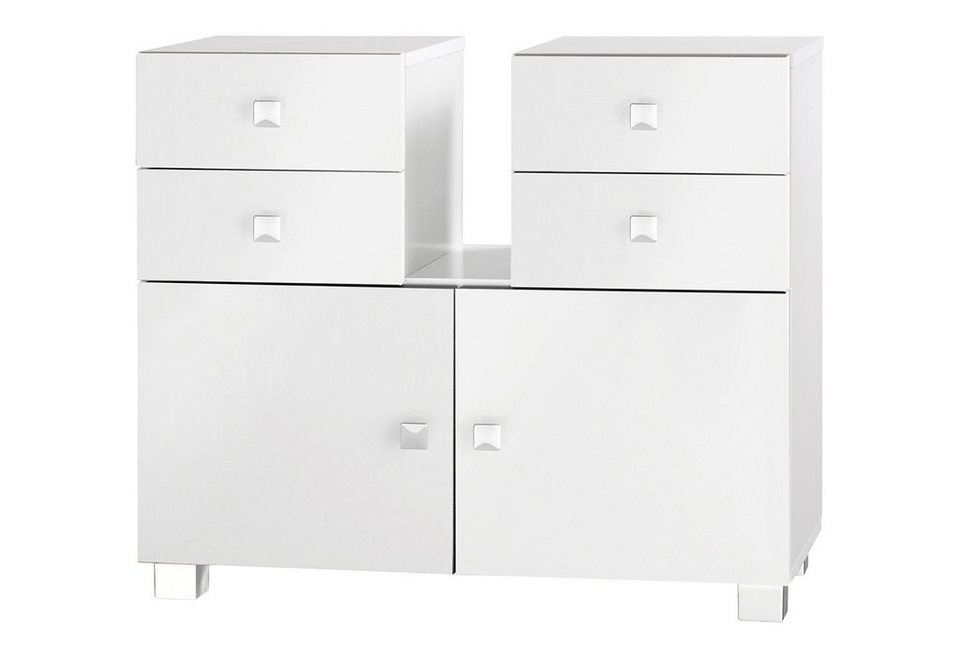 Waschbeckenunterschrank, Schildmeyer, »Bozen« in weiß