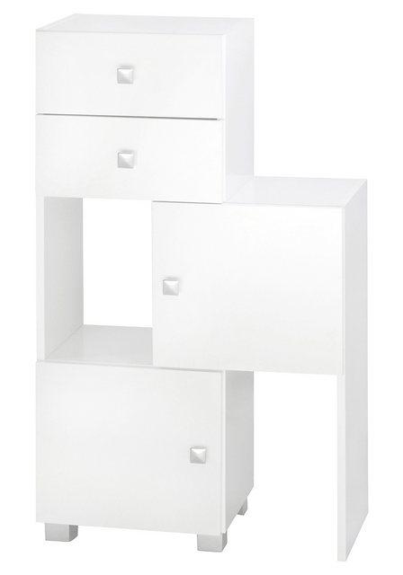 Badregale - Schildmeyer Schieberegal »Bozen«, Breite 38 68 cm Breite, Türen mit Soft Close Funktion, Badregal  - Onlineshop OTTO