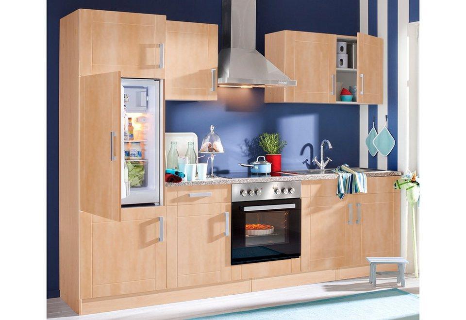 Küchenzeile, Held Möbel, »Tinnum«, Breite 270 cm, mit E-Geräten in Buchefarben