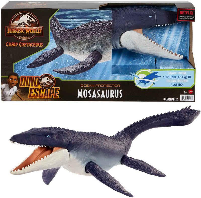 Mattel® Spielfigur »Jurassic World, Schützer der Meere Mosasaurus Dinosaurier«, Recyceltes Plastik aus der Umwelt