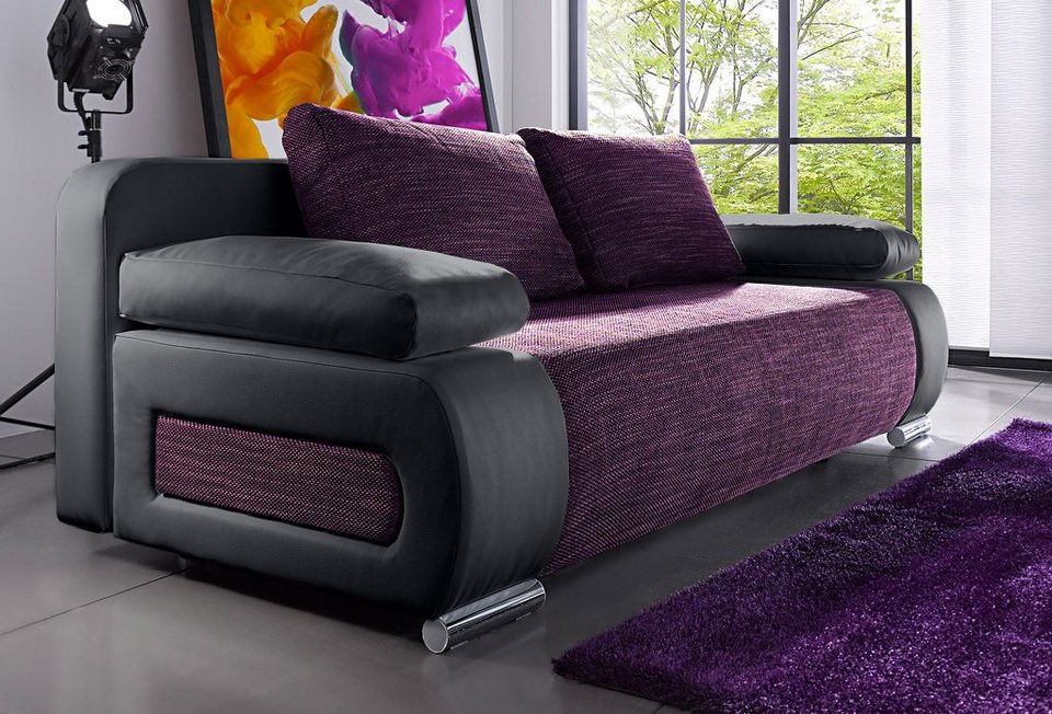 schlafsofa mit bettkasten. Black Bedroom Furniture Sets. Home Design Ideas