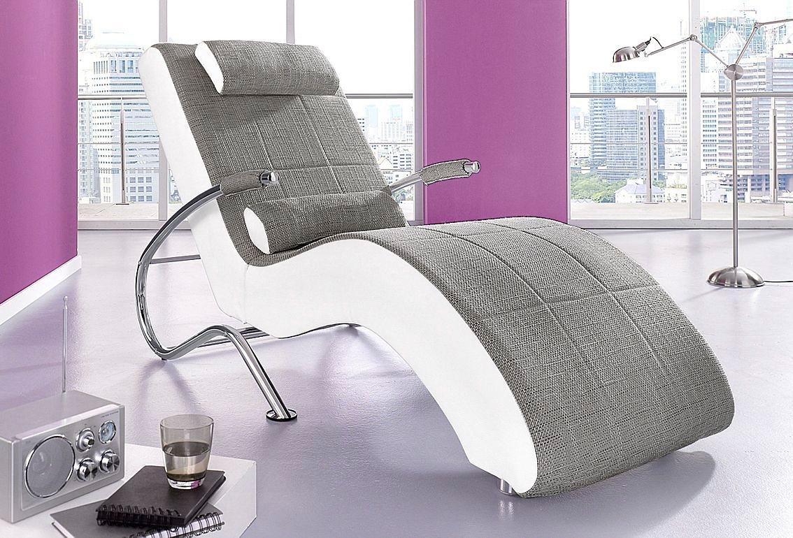 Collection AB Relaxliege, wahlweise mit Kippfunktion | Wohnzimmer > Sessel > Relaxliegen | Kunstleder - Strukturstoff | COLLECTION AB