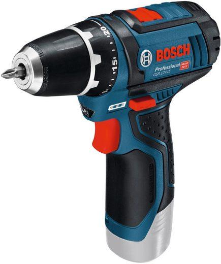Bosch Professional Powertools Akku-Bohrschrauber »GSR 12V-15-LI«, max. 1300 U/min, ohne Akku, ohne Ladegerät