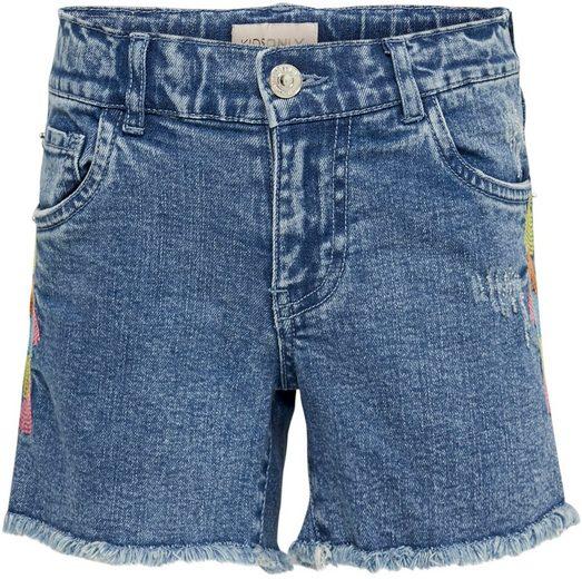 KIDS ONLY Jeansshorts »KONHAPPY« mit seitlicher Stickerei