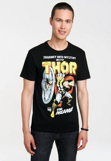 LOGOSHIRT T-Shirt mit coolem Frontprint »Thor - Marvel - For Asgaaard!«