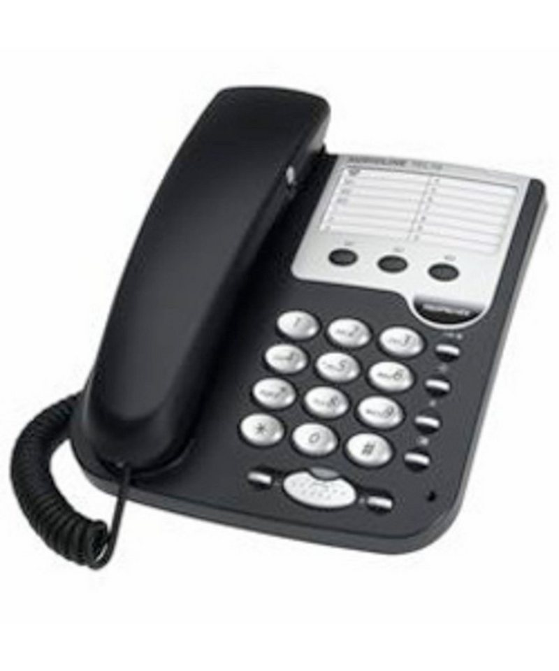 Audioline Telefon analog schnurgebunden »Tel 19« in Silber/Schwarz