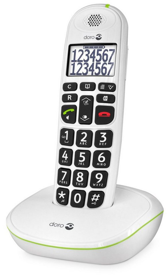 doro telefon analog schnurlos phoneeasy 110 eco modus. Black Bedroom Furniture Sets. Home Design Ideas
