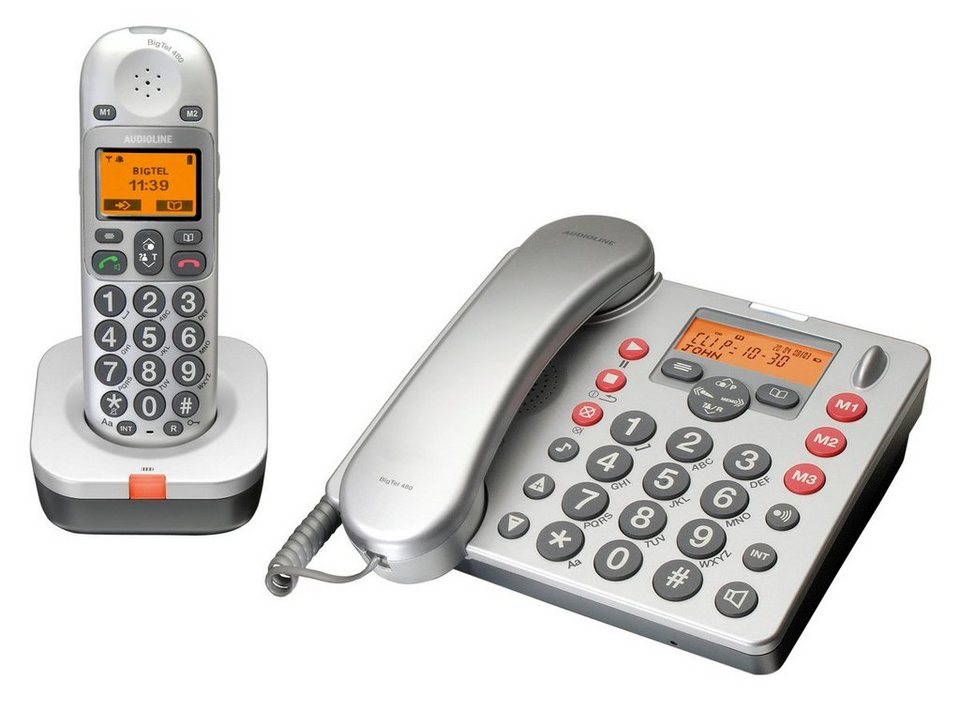 Audioline Großtastentelefon »Big Tel 480 Combo« in Grau